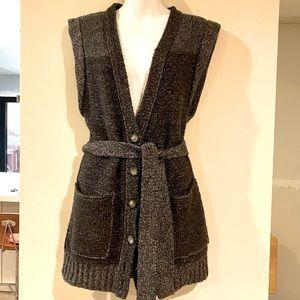 Club Monaco Belted Sweater Vest